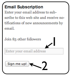 Email Subscription Instructions