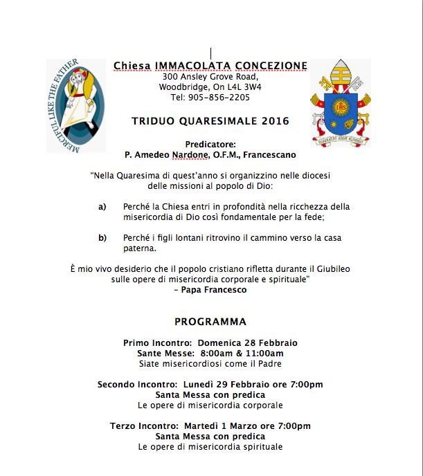 Lent 2016 Highlight Bulletin